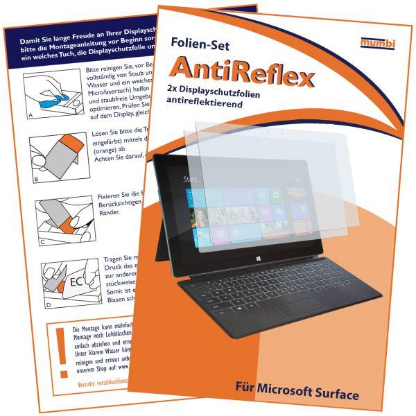 Displayschutzfolie 2 Stck. AntiReflex für Microsoft Surface