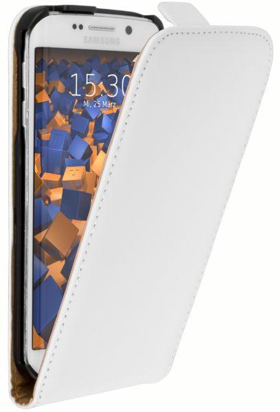 Flip Case Tasche weiß für Samsung Galaxy S6 Edge