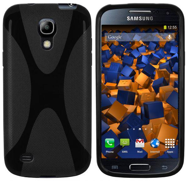 TPU Hülle X-Design schwarz für Samsung Galaxy S4 Mini