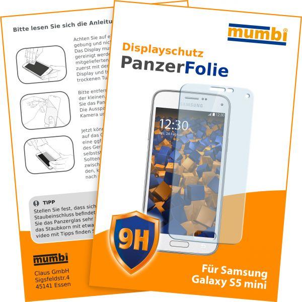 Panzerglasfolie Hartglas 9H für Samsung Galaxy S5 Mini