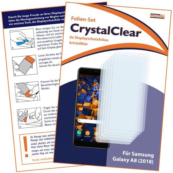 Displayschutzfolie 6 Stck. CrystalClear für Samsung Galaxy A8 (2018)