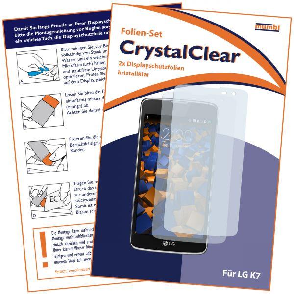 Displayschutzfolie 2 Stck. CrystalClear für LG K7