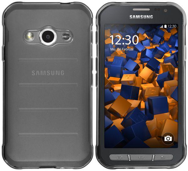 TPU Hülle schwarz transparent für Samsung Galaxy Xcover 3