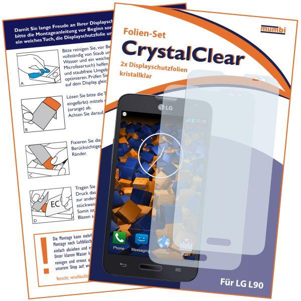 Displayschutzfolie 2Stck. CrystalClear für LG L90