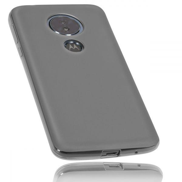TPU Hülle schwarz transparent für Motorola Moto G6 Play