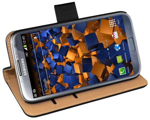Bookstyle Tasche schwarz für Samsung Galaxy Note 2