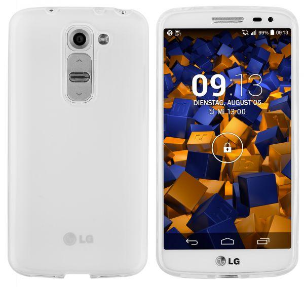TPU Hülle transparent weiß für LG G2 Mini