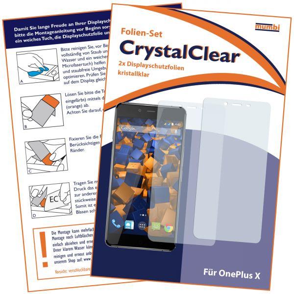 Displayschutzfolie 2 Stck. CrystalClear für OnePlus X
