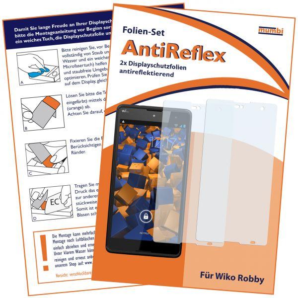 Displayschutzfolie 2 Stck. AntiReflex für Wiko Robby