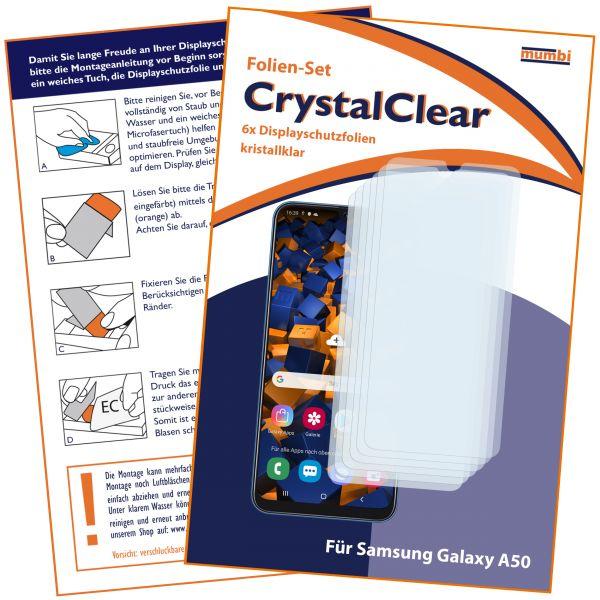 Displayschutzfolie 6 Stck. CrystalClear für Samsung Galaxy A50