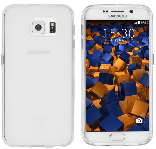 TPU Hülle (Slim - 1.2 mm) transparent weiß für Samsung Galaxy S6 / S6 Duos