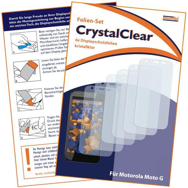 Displayschutzfolie 6 Stck. CrystalClear für Motorola Moto G