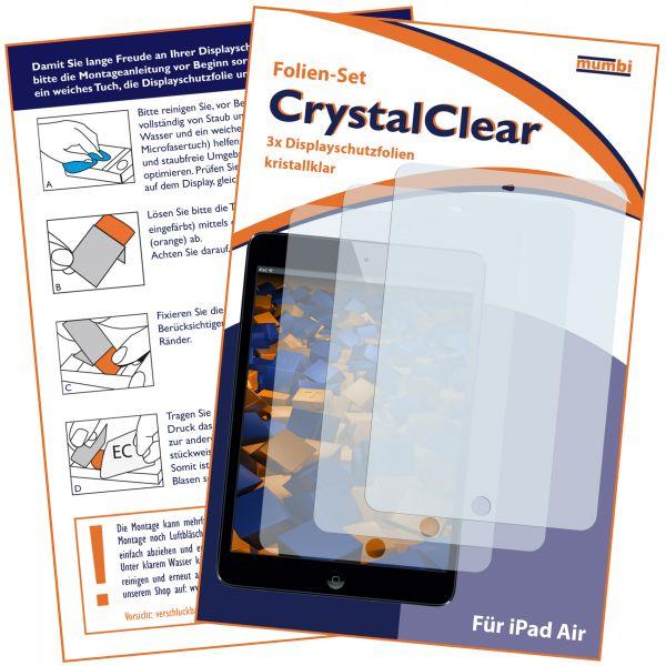 Displayschutzfolie 3 Stck. CrystalClear für Apple iPad 2018, 2017 / Air 1 / 2