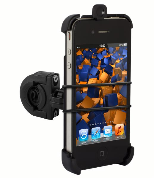 Fahrrad- Motorradhalterung TwoSave für Apple iPhone 4 / 4s