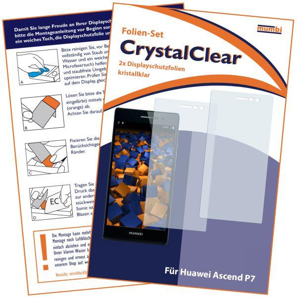 Displayschutzfolie 2 Stck. CrystalClear für Huawei Ascend P7