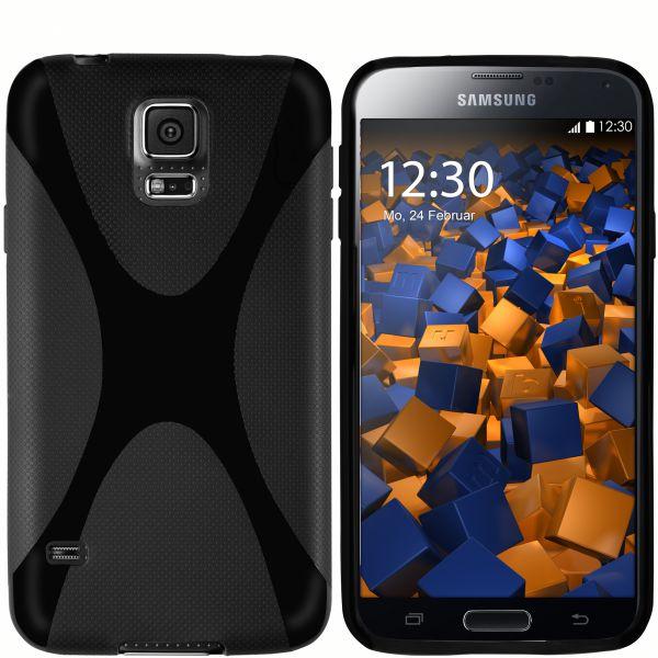 TPU Hülle X-Design schwarz für Samsung Galaxy S5 / S5 Neo