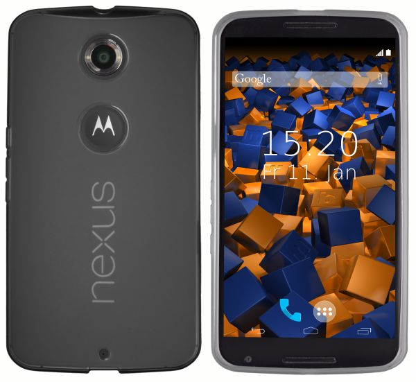 TPU Hülle schwarz transparent für Motorola Google Nexus 6
