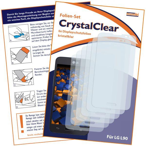 Displayschutzfolie 6 Stck. CrystalClear für LG L90 D