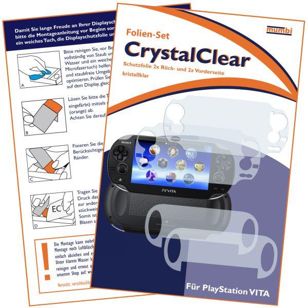 Displayschutzfolie 4 Stck. CrystalClear für Sony PlayStation Vita (2x vorne und 2x hinten)