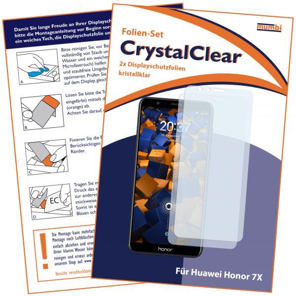 Displayschutzfolie 2 Stck. CrystalClear für Huawei Honor 7X