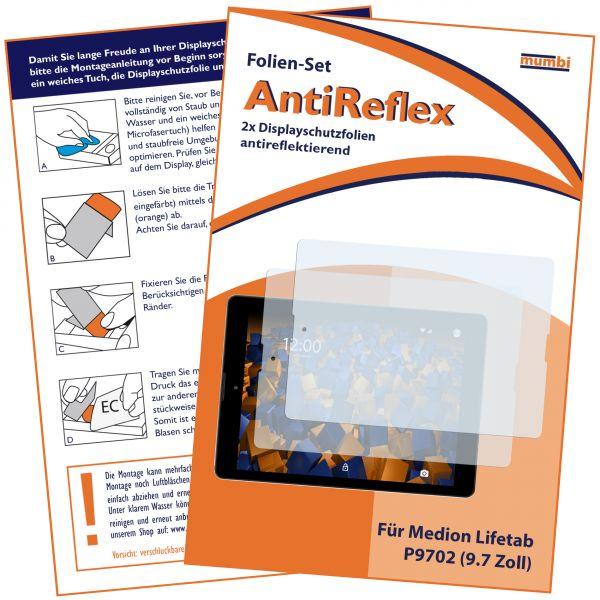 Displayschutzfolie 2 Stck. AntiReflex für Medion Lifetab P9702 / Lifetab P9701