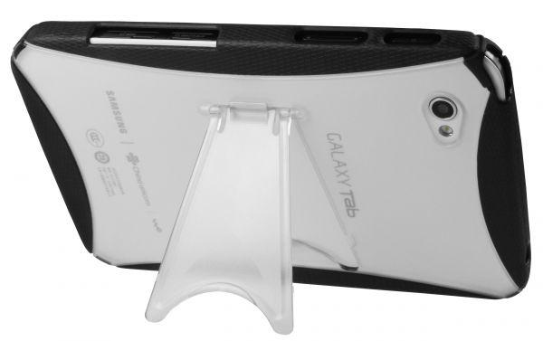 TPU Hülle mit Aufstell-Funktion schwarz für Samsung Galaxy Tab P1000