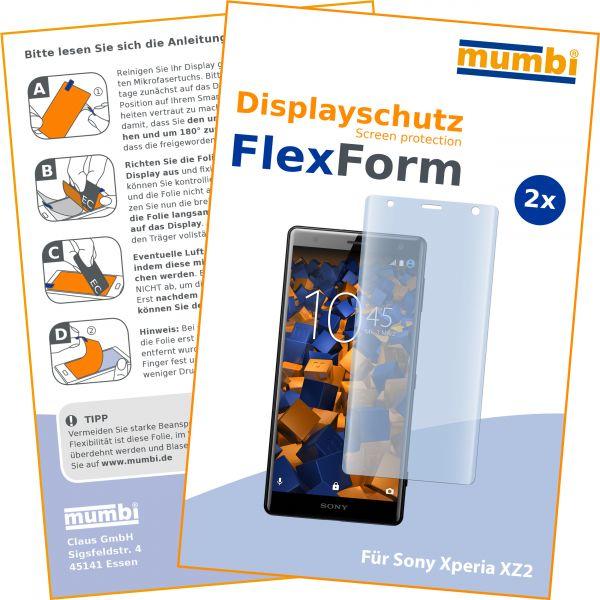Displayschutzfolie 2 Stck. FlexForm für Sony Xperia XZ2
