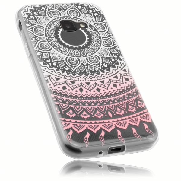 TPU Hülle transparent weiß rosa Motiv Mandala für Samsung Galaxy Xcover 4 / 4s