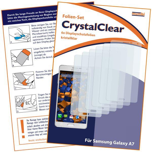 Displayschutzfolie 6 Stck. CrystalClear für Samsung Galaxy A7