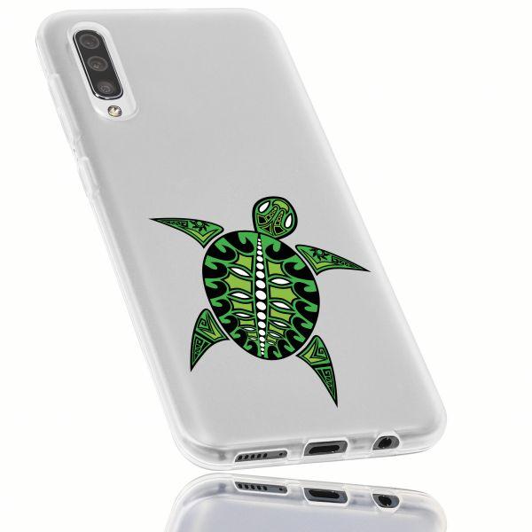 TPU Hülle weiß Motiv Schildkröte transparent für Samsung Galaxy A50
