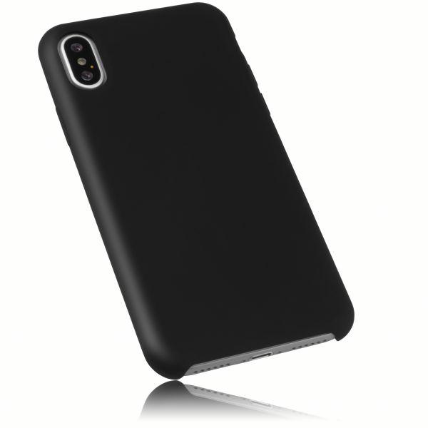 Hülle Comfort schwarz innen Mikrofaser weich gefüttert für Apple iPhone XS / X