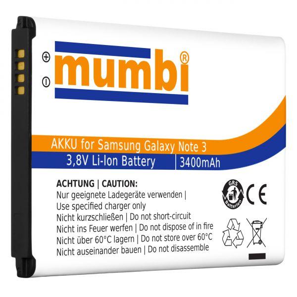 Ersatzakku Lithium-Ionen 3400 mAh (ohne NFC) für Samsung Galaxy Note 3