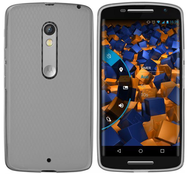 TPU Hülle transparent schwarz für Motorola Moto X Play