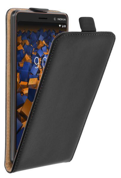 Flip Case Tasche schwarz für Nokia 7 Plus