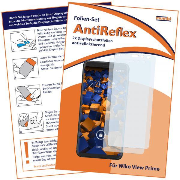 Displayschutzfolie 2 Stck. AntiReflex für Wiko View Prime