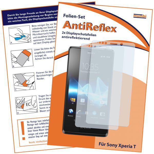 Displayschutzfolie 2 Stck. AntiReflex für Sony Xperia T