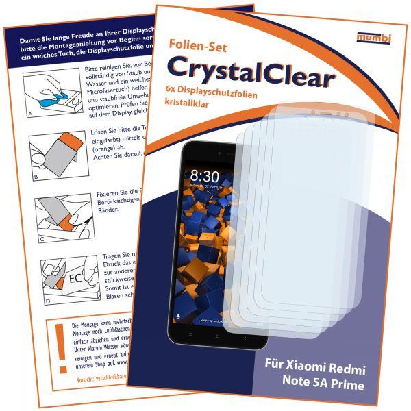 Displayschutzfolie 6 Stck. CrystalClear für Xiaomi Redmi Note 5A Prime