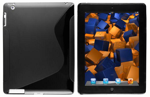 TPU Hülle S-Design schwarz für Apple iPad 2 / 3 / 4