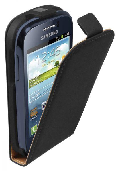 Flip Case Tasche schwarz für Samsung Galaxy Young / Young Duos