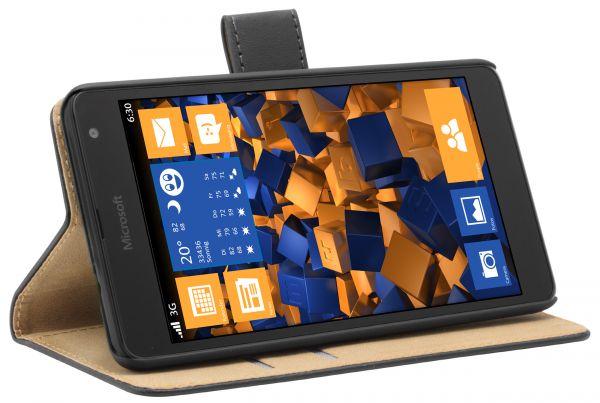 Bookstyle Tasche schwarz für Microsoft Lumia 535