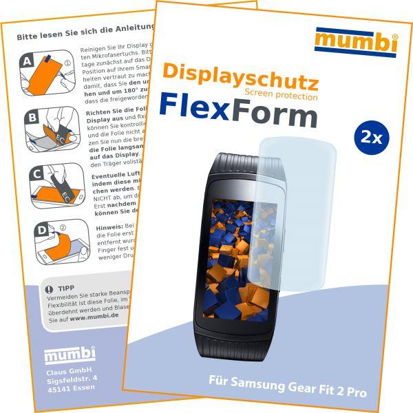 Displayschutzfolie 2 Stck. FlexForm für Samsung Gear Fit 2 Pro