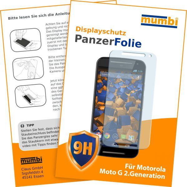Panzerglasfolie Hartglas 9H für Motorola Moto G 2. Generation