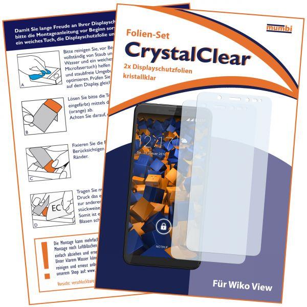 Displayschutzfolie 2 Stck. CrystalClear für Wiko VIEW
