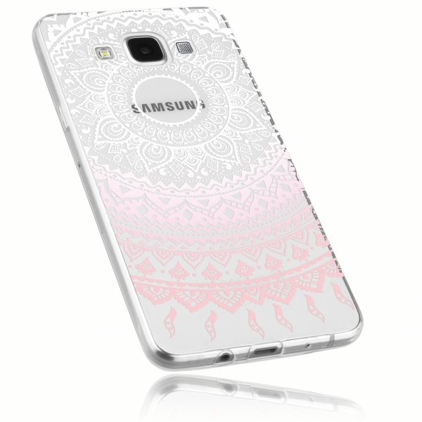 TPU Hülle transparent weiß rosa Motiv Mandala für Samsung Galaxy A5 (2015)