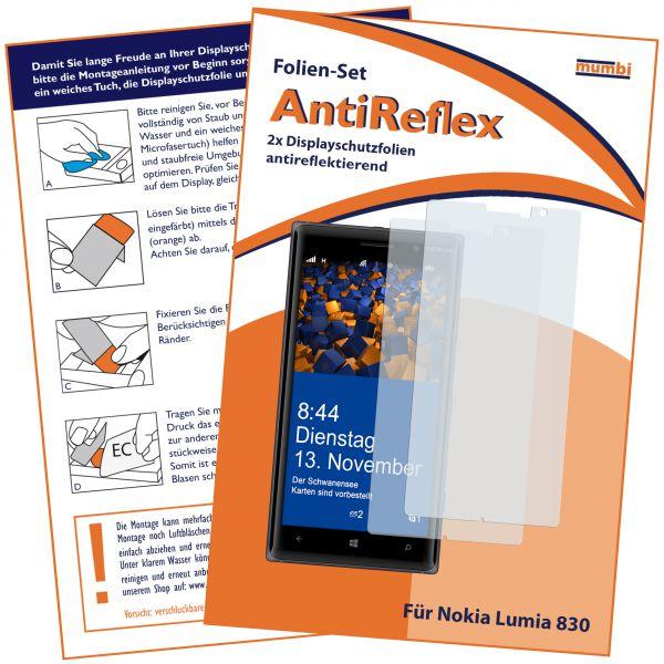 Displayschutzfolie 2 Stck. AntiReflex für Nokia Lumia 830