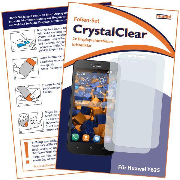 Displayschutzfolie 2 Stck. CrystalClear für Huawei Y625