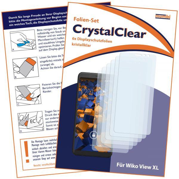 Displayschutzfolie 6 Stck. CrystalClear für Wiko View XL