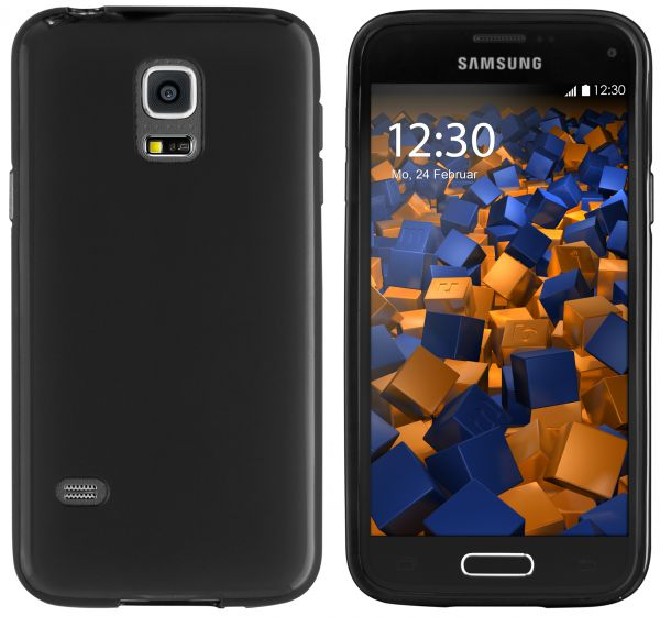 TPU Hülle schwarz für Samsung Galaxy S5 Mini