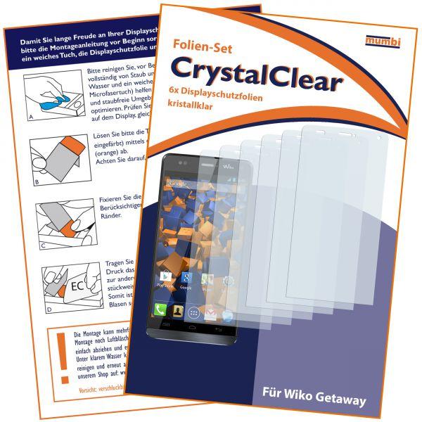 Displayschutzfolie 6 Stck. CrystalClear für Wiko Getaway