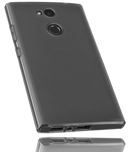TPU Hülle schwarz transparent für Sony Xperia L2
